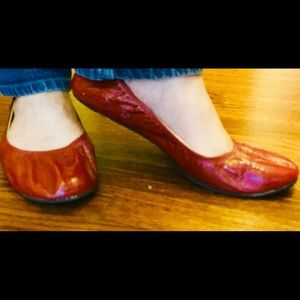Xhilaration Dark Red sz 10 Ballet Flat
